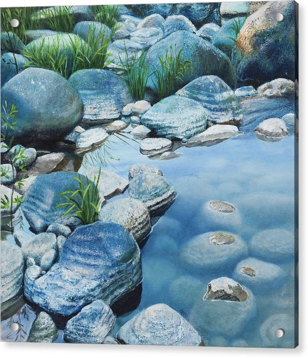 Blue Pool - Acrylic Print
