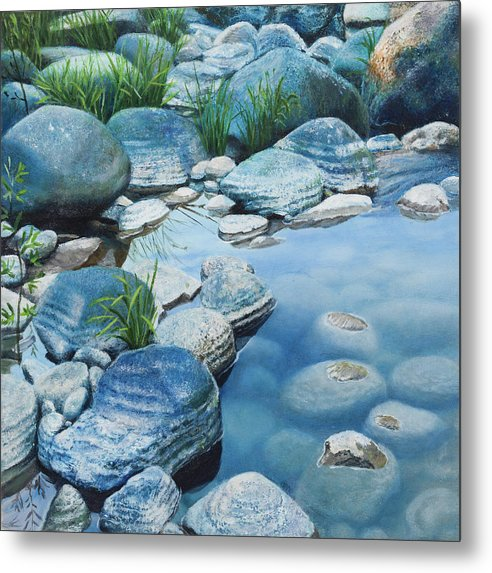 Blue Pool - Metal Print