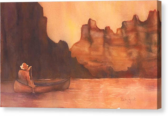 Canoe Solitude - Canvas Print