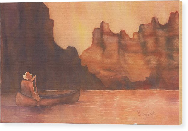 Canoe Solitude - Wood Print