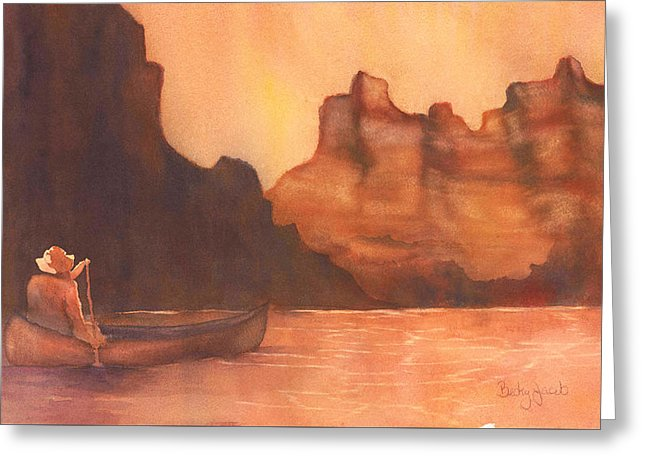 Canoe Solitude - Greeting Card