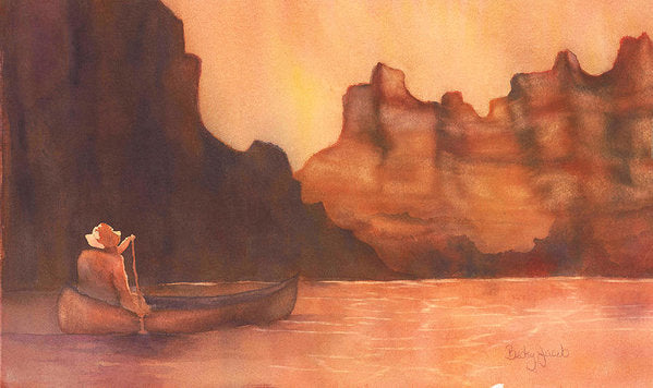 Canoe Solitude - Art Print