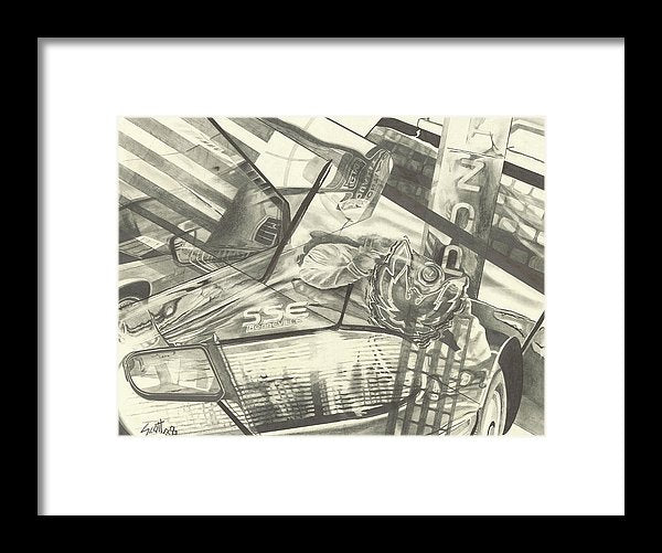 Car Parts 2 - Framed Print