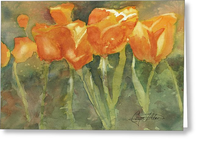 Dancing Tulips - Greeting Card