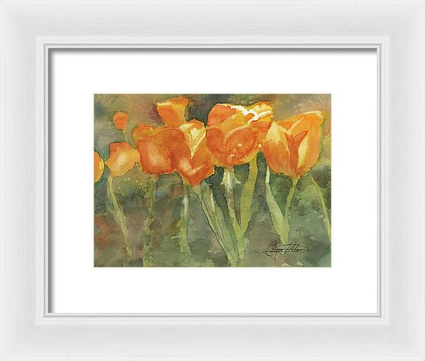 Dancing Tulips - Framed Print