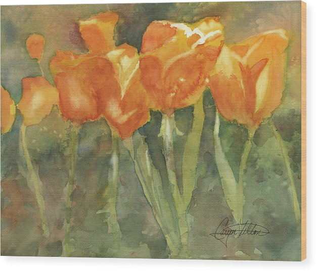 Dancing Tulips - Wood Print