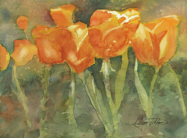 Dancing Tulips - Art Print