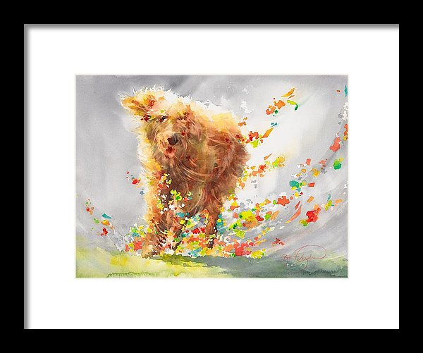 Dog-fetti - Framed Print