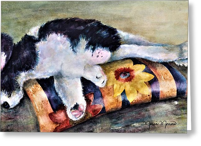 Dog Tired - Greeting Card