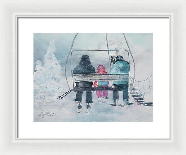 First On The Hill - Framed Print