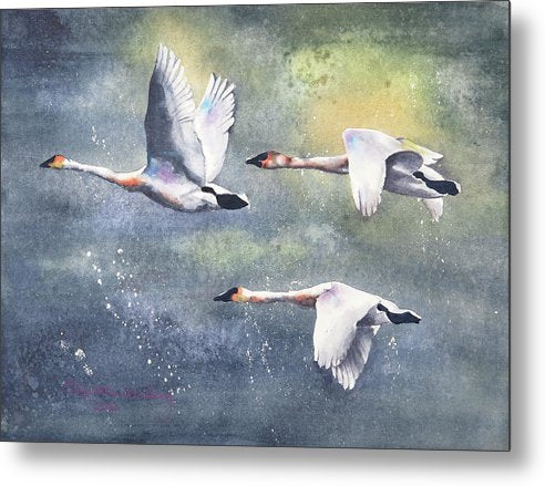 Flight From The Storm - Metal Print