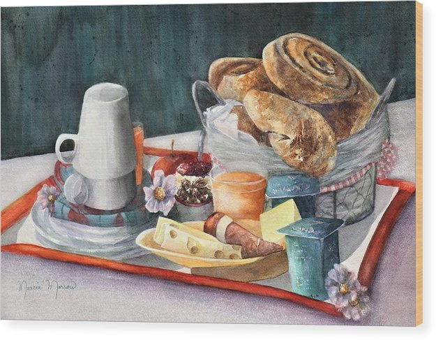 French Breakfast - Wood Print