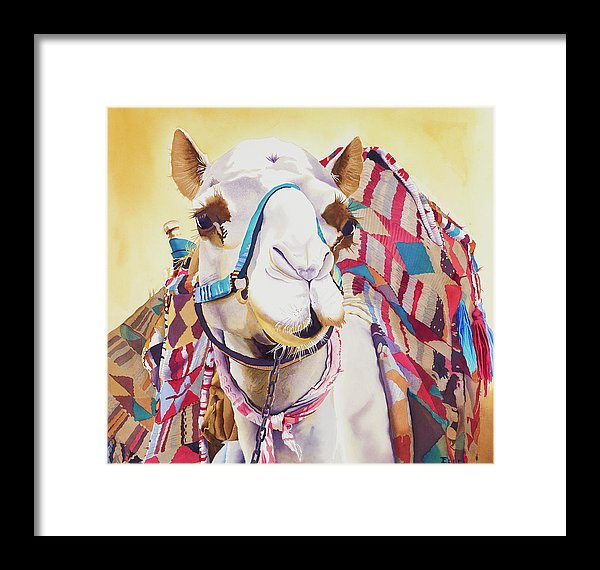 God Laughed When He Made A Camel - Framed Print