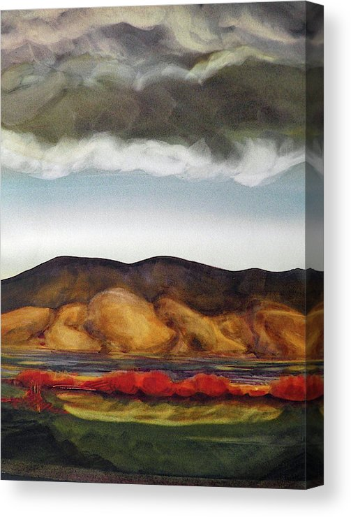 Golden Hills And The Coming Storm - Canvas Print