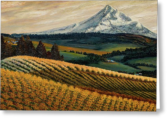 Hood River Valley Afternoon - Greeting Card