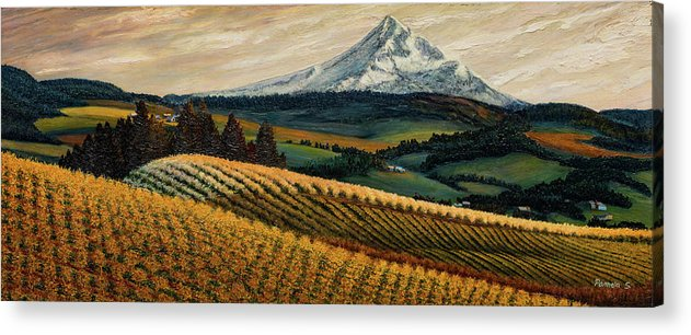 Hood River Valley Afternoon - Acrylic Print