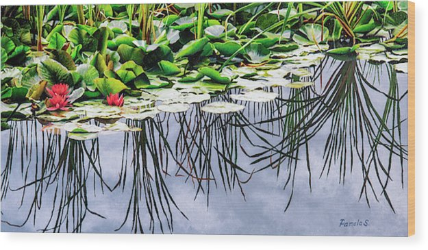 Lilly Pond - Wood Print