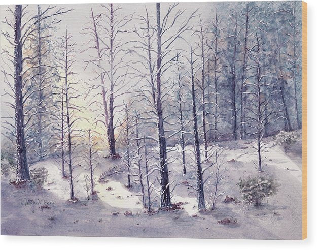 Morning Snow - Wood Print