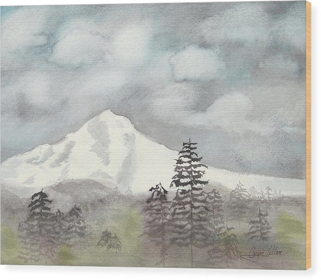 Mt. Hood In The Fall - Wood Print