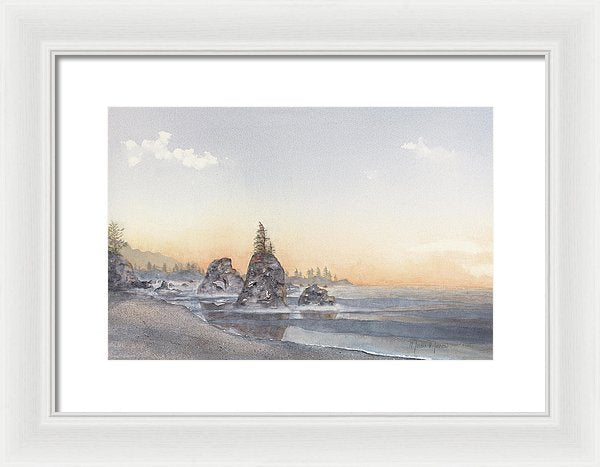 Pacific Blush - Framed Print