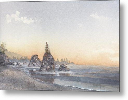 Pacific Blush - Metal Print