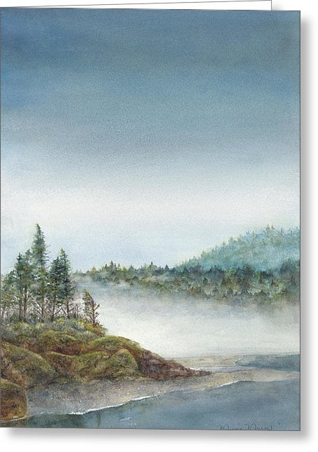 Pacific Mist - Greeting Card
