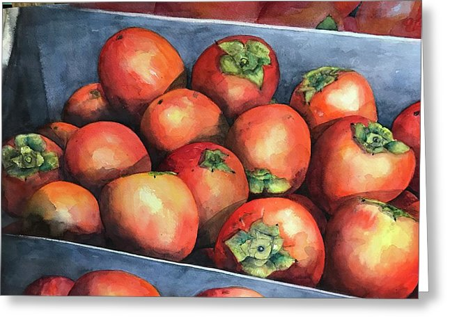Persimmons - Greeting Card