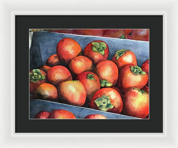 Persimmons - Framed Print