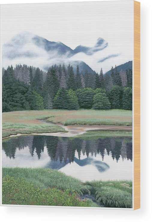 Reflections On Alaska - Wood Print
