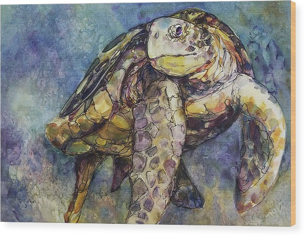 Sea Turtle - Wood Print