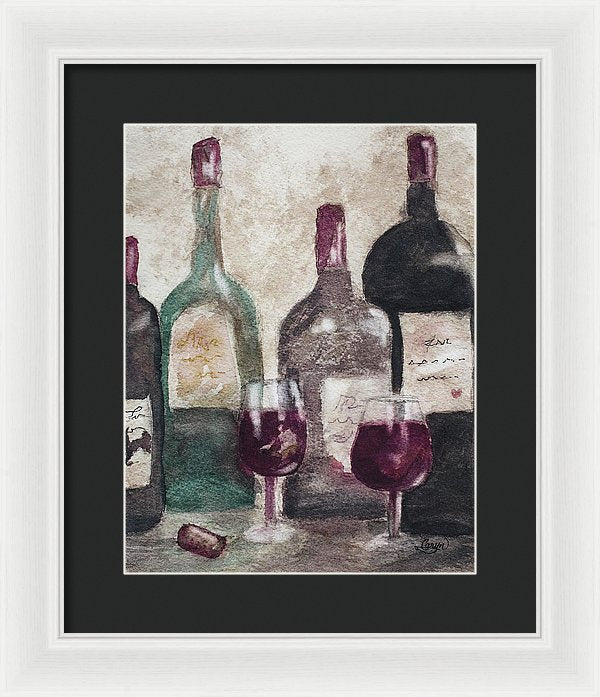 Sip Back And Rest Awhile - Framed Print