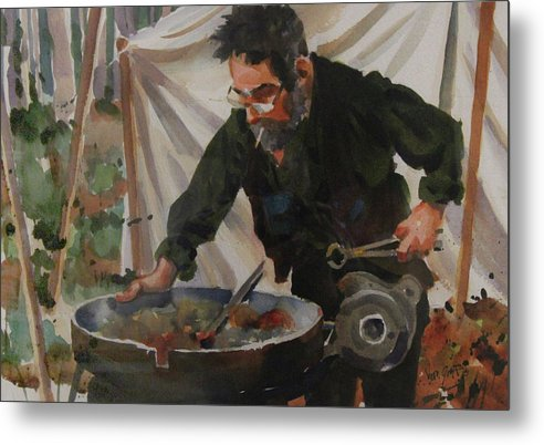 The Blacksmith - Metal Print