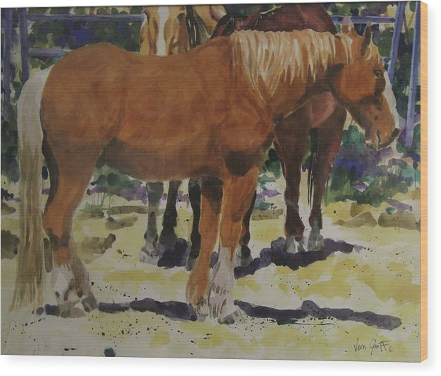 The Draft Horse - Wood Print