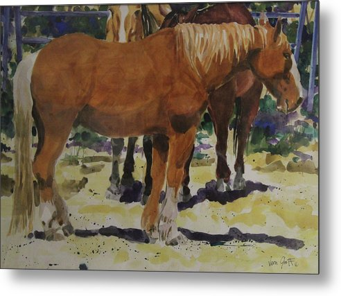 The Draft Horse - Metal Print
