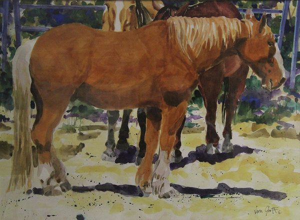 The Draft Horse - Art Print