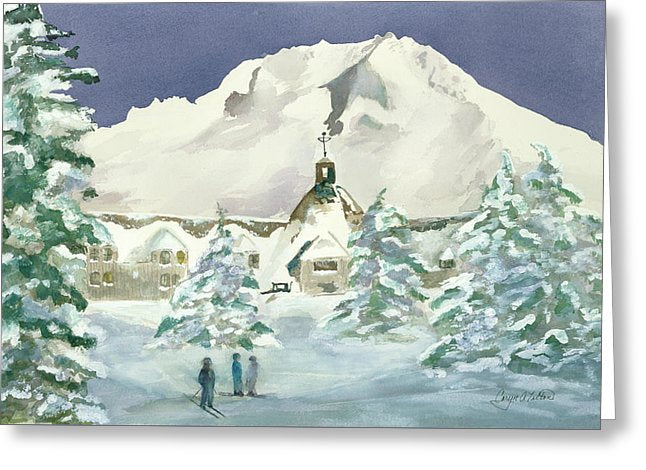 Timberline Lodge, Or - Greeting Card