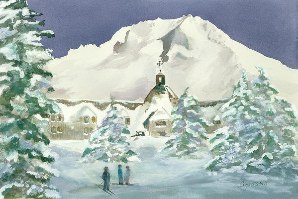Timberline Lodge, Or - Art Print
