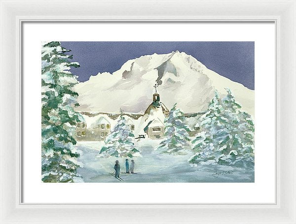 Timberline Lodge, Or - Framed Print