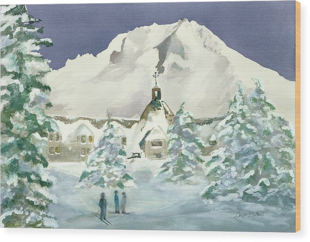 Timberline Lodge, Or - Wood Print