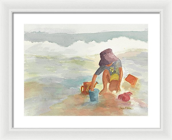 Without A Care - Framed Print