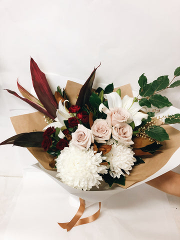 Bouquet Romance Valentines hampers Red roses Sunshine coast florist flowers delivery coolum beach noosa buderim maroochydore peregian beach peregian springs