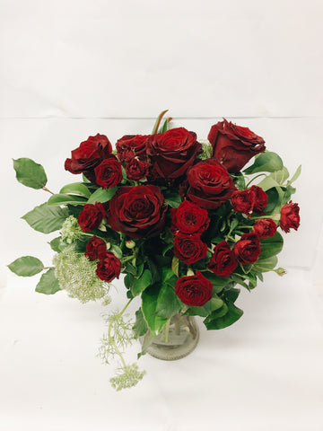 Bouquet Romance Valentines hampers Coolum beach flowers Valentines 12 red roses bouquet delivery Sunshine Coast florist flowers maroochydore buderim peregian spring peregian beach noosa marcoola mudjimba pacific paradise mount coolum