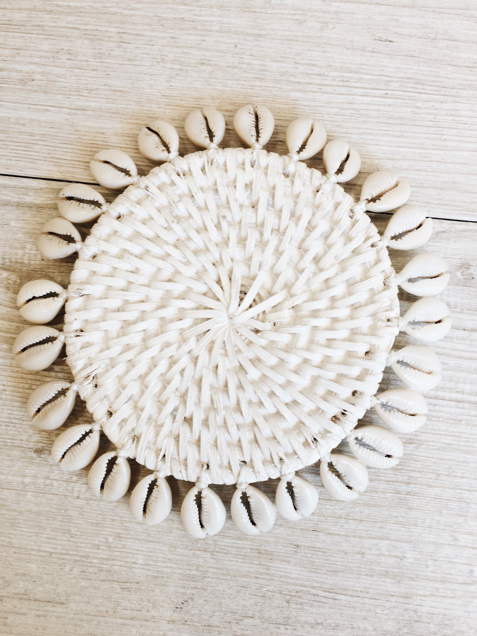 Tropical Rattan Coaster