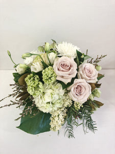 Pastel box arrangement flowers Mothers Day Coolum Peregian delivery