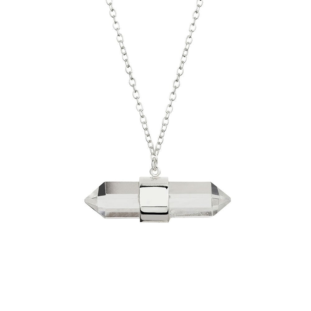 Clear Quartz Necklace - Silver