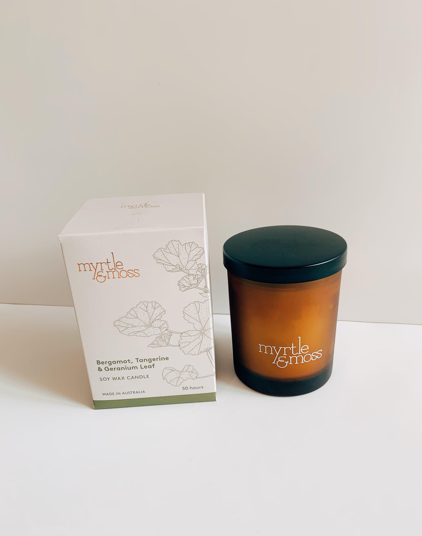 myrtle and moss; candle; soy wax candle; candle; gift; natural; giftware; florist; maple flowers and decor; mooloolaba; maroochydore; coolum; sunshine coast; noosa; australia; delivery; homewares; small business; local;
