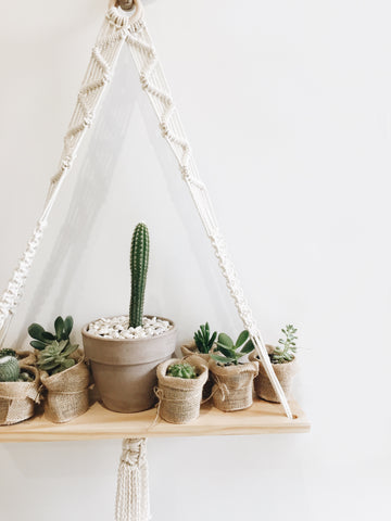Large Macrame Hanging Shelf