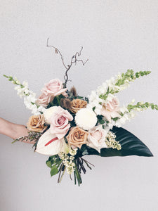 Blush pastel dreamy bouquet flowers