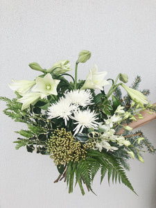 White xmas flowers delivered