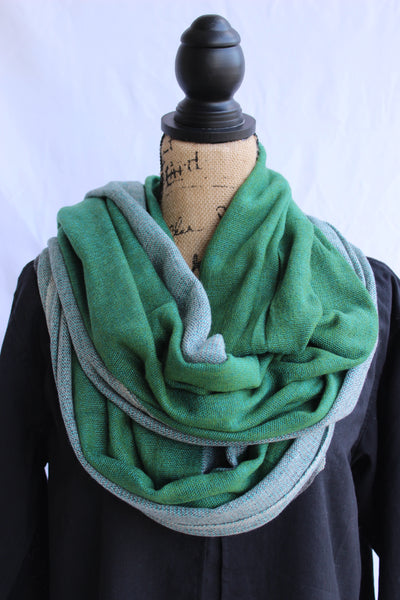 100% Cashmere Scarf-Green